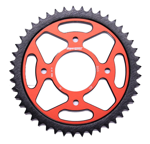Suzuki GSX-R125 GSX-S125 Supersprox Edge Rear Sprocket 803-45 Black Red