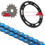 Yamaha WR125 R/X Chain and Sprocket Kit Blue RK Racing 09-17