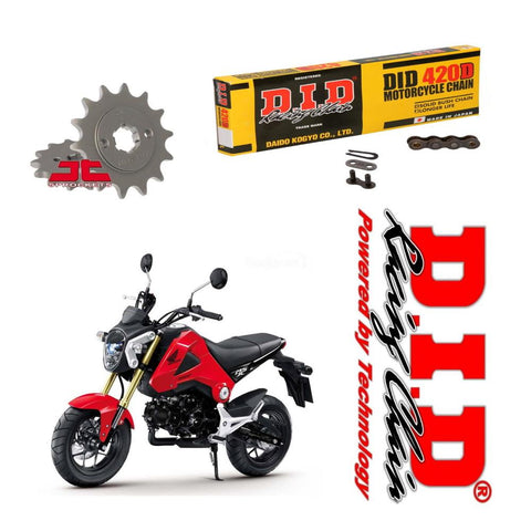 DID Chain and Sprocket Kit for Honda MSX125 Grom 2013-19
