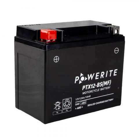 Powerite PTX12BS Motorcycle Battery Manufacturer Sealed Lead Acid
