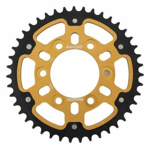 Supersprox Gold Stealth Rear Sprocket Kawasaki ZX6R Z1000 Z750 43T