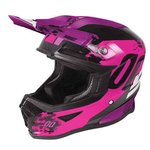 Shot Furious 2020 MX Helmet Kids Shadow Neon Pink Gloss ACU Approved