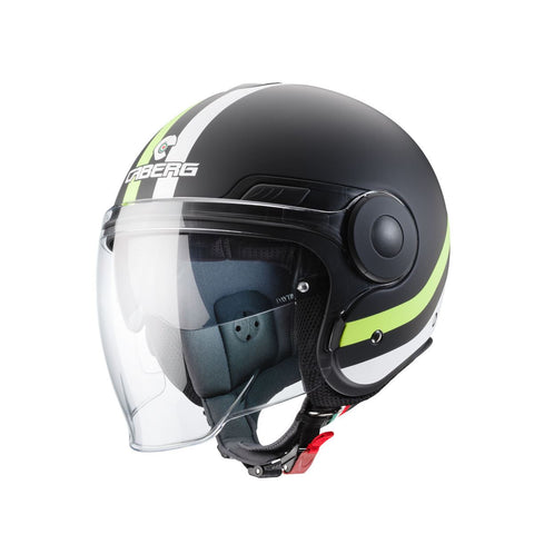 Caberg Uptown Chrono /Yellow Flo Motorcycle Helmet Matt Black/Fluo