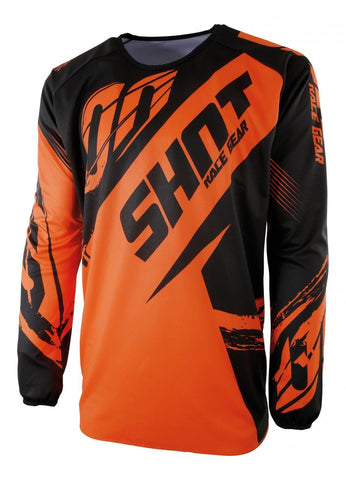 SHOT Devo Kid Fast Jersey - Neon Orange Age 6-7
