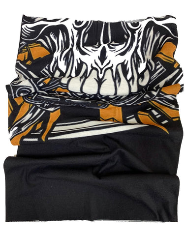 Golden Skull Anti Bacterial Neck Tube / Bandana