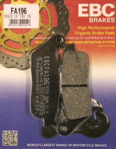 Triumph Tiger 885 Front & Rear Brake Pads EBC 1992-99