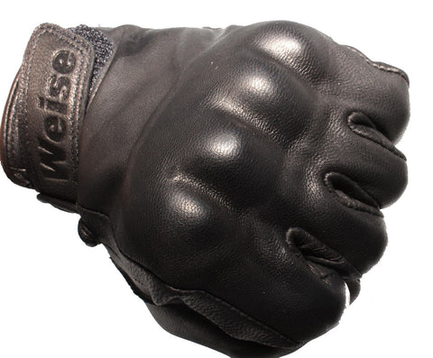 Weise Victory Classic Motorcycle Glove Retro Style Black Armoured