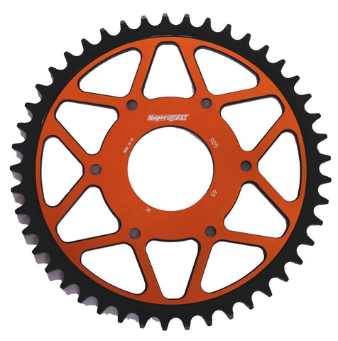 KTM Duke 125 390 Supersprox Edge Rear Sprocket 890-45 Orange Black