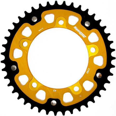 Supersprox Gold Stealth Rear Sprocket Triumph Bonneville Scrambler Thruxton 865