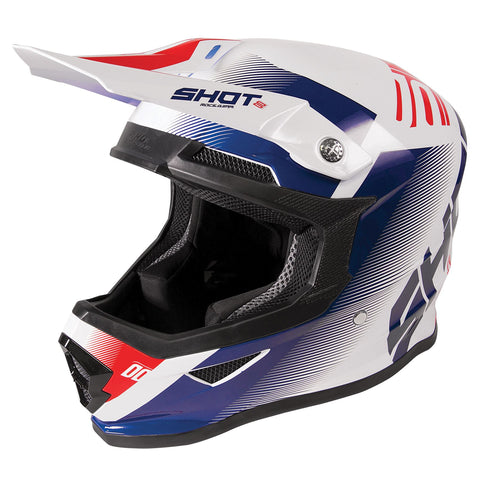 Shot Furious 2020 MX Helmet Adult Trust Blue Red Gloss ACU Approved