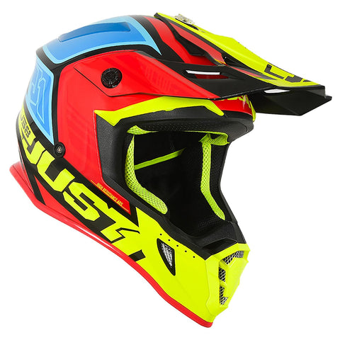 Just 1 J38 Motocross Helmet Blade Yellow Red Blue Gold ACU