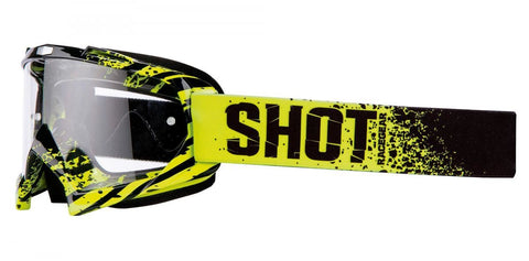 Shot Creed Broke Neon Motocross MX Goggles Clear Lens