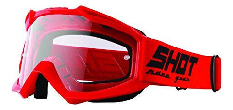 Shot Assault Moto X Goggles: Red