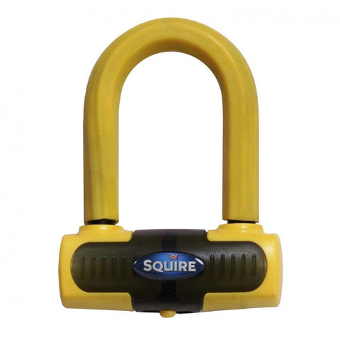 Squire Eiger Motorcycle Yellow Disc Lock Gold Sold Secure Heavy Duty