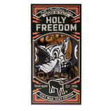 Holy Freedom Cafe Racer Motorcycle Neck Tube Bandana Fleece Polar Golden Wolf