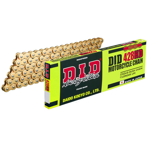 DID Heavy Duty Gold 428-124 Motorcycle Drive Chain