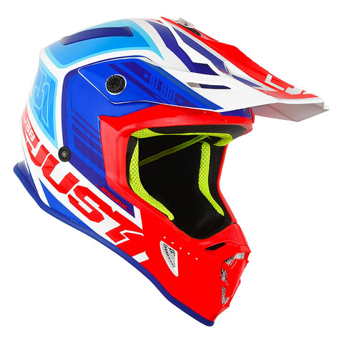 Just 1 J38 Motocross Helmet Blade Red White Blue Gold ACU
