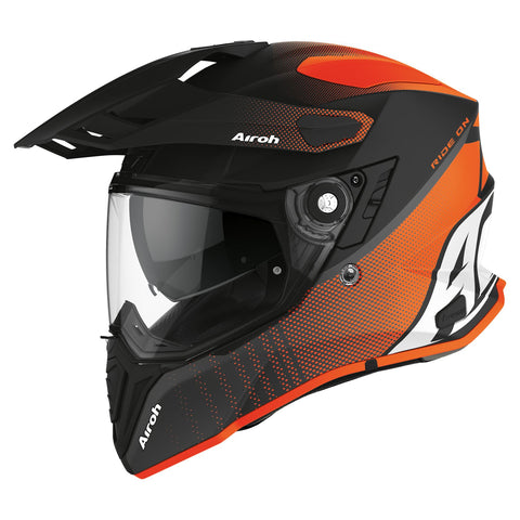 Airoh Commander Adventure Helm Progress Orange Matt
