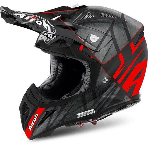 Airoh Aviator 2.2 Off Road Motorcycle Helmet - Styling Red