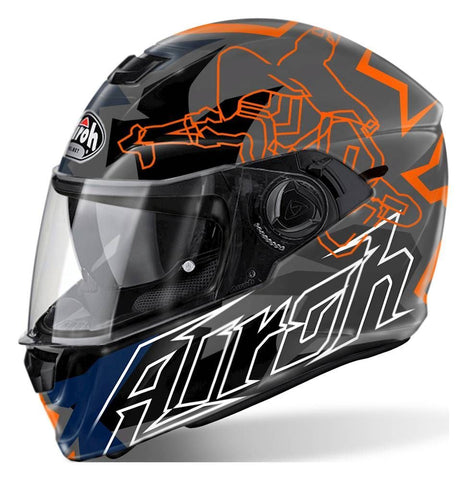 Airoh Storm Full Face Motorcycle Helmet Bionikle Orange XS-2XL