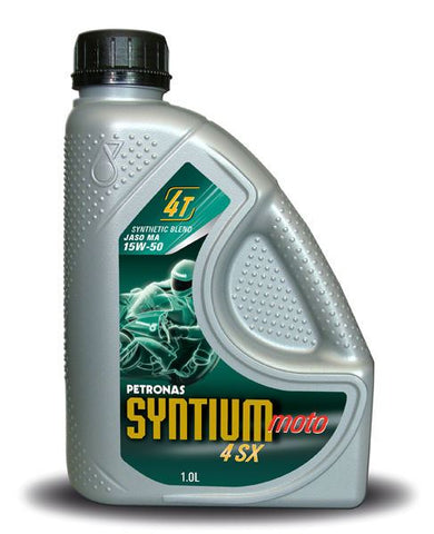 Petronas Syntium Moto 4 SX 15W-50 Fully Synthetic Motorcycle Engine Oil 1 L