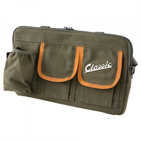 Classic Vespa Glove Box Storage Bag:  Canvas Effect