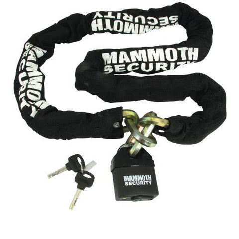 Mammoth Hexagonal Motorcycle Lock and Chain 1.8m x 12mm