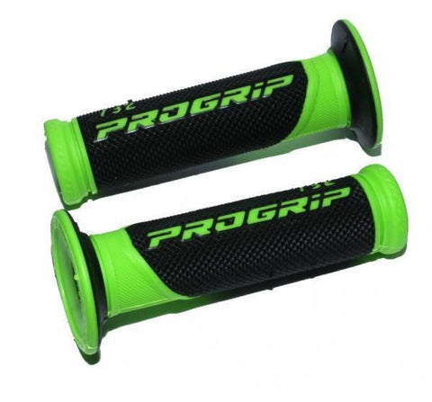 Progrip 732 Motorcycle Handlebar Grip Green Black