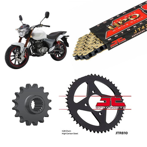 KSR-Moto Code 125 Chain and Sprocket Kit JT Gold O-Ring 2014-2019