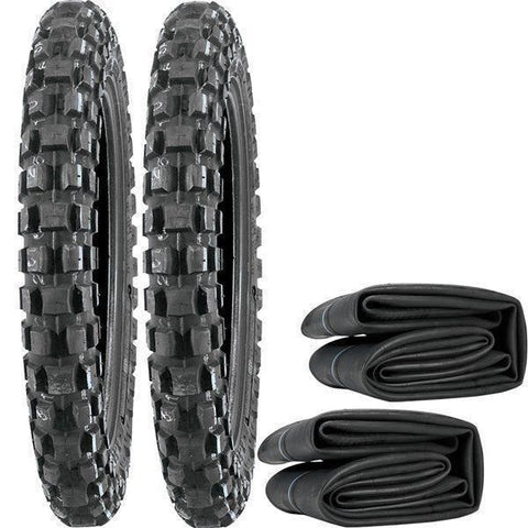 Yamaha PW50 Pair of Tyres and Inner Tubes