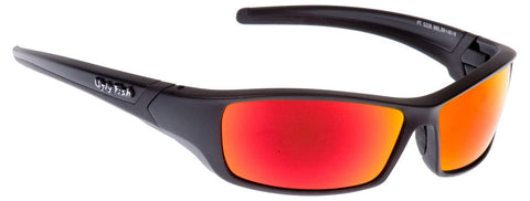 Ugly Fish Sunglasses Matt Black With Red Lens Sports Shades Eyewear RS5228