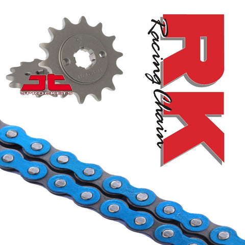 Honda CBR125 R Chain and Sprocket Kit Blue RK Racing JT Sprockets 2011-16