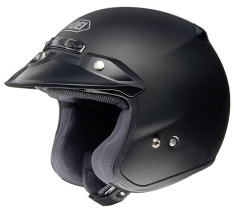 Shoei RJ Plain Platinum-R Motorcycle Helmet Matt Black