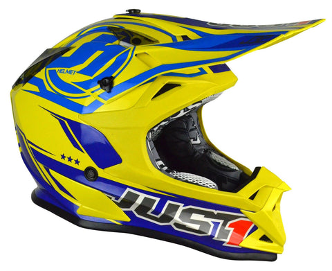 Just1 J32 Rave Motocross Helmet Yellow Gold ACU