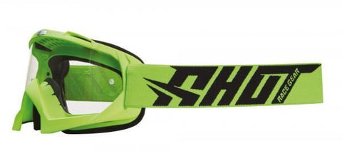 Shot Motocross Creed Goggles: Neon Green