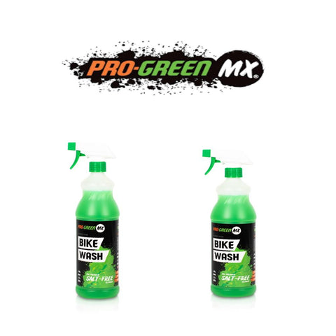 Pro-Green MX Motocross Bike Cleaner Motorcycle Wash Salt Free Twin Pack 2L