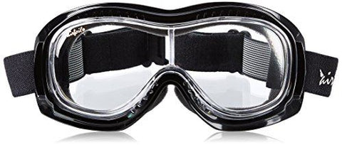 Halcyon MK9 Airfoil Sports Goggles Chrome Frame Clear Lens