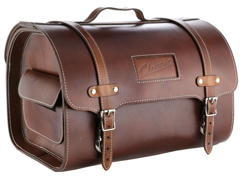 Classic Vespa & Lambretta High Quality Leather Storage Bag: Brown