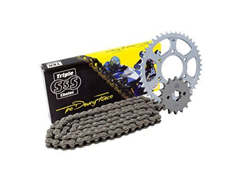 Kawasaki KLX125 Heavy Duty Chain and Sprocket Set 10-15