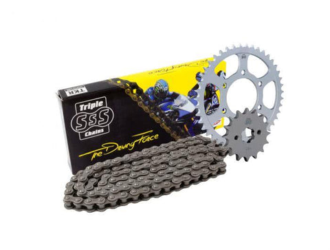 Honda CB125F 2015- Chain and Sprocket Kit Black 15T/45T Size 428