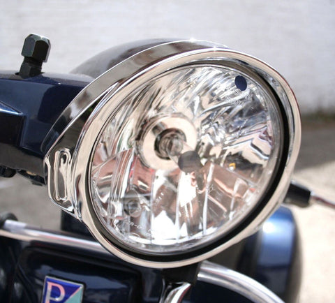 Vespa PX 125 PX 200 T5 Chrome Headlight Rim Trim Surround Bezel