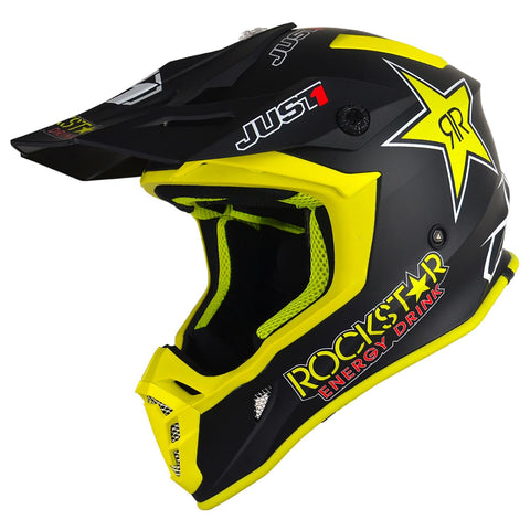 Just 1 J38 Motocross Helmet Rockstar Off Road Gold ACU