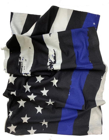 Stars & Stripes Black Blue Neck Tube / Bandana