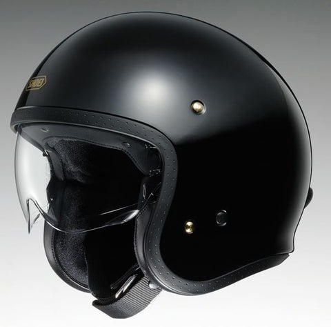 Shoei J.O. Plain Motorcycle Helmet Black
