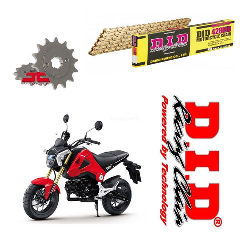 Honda MSX125 DID Gold Street Kit chaîne et pignon de moto 428 UPGRADE
