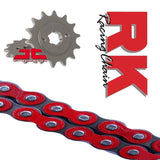 Honda MSX125 Grom RK Racing Red Chain and Sprocket Kit