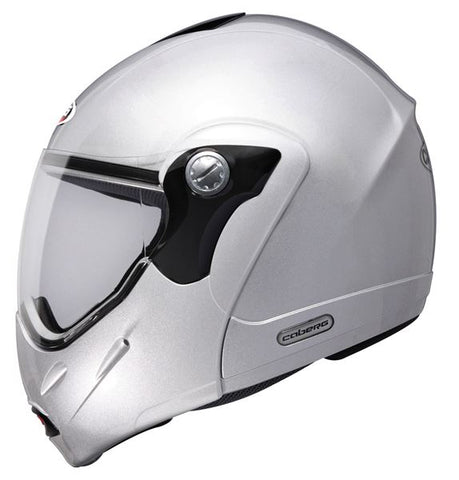 Caberg Rhyno Junior Helmet Gloss Silver Integrated Sun Visor ACU Approved