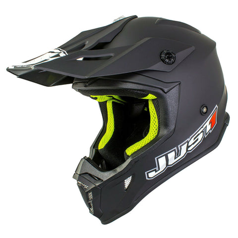 Just 1 J38 Motocross Helmet Blade Matt Black Gold ACU Off Road