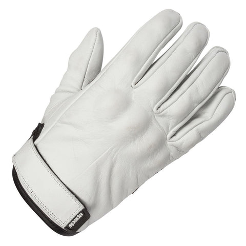 Spada Wyatt Retro Ivory Leather Motorcycle Gloves SM-2XL