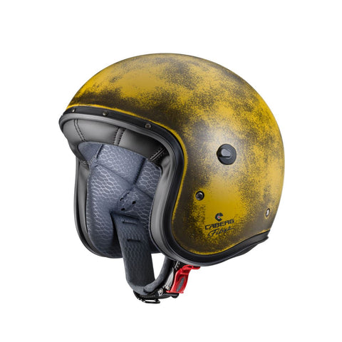 Caberg Freeride Brushed Motorcycle Helmet Yellow